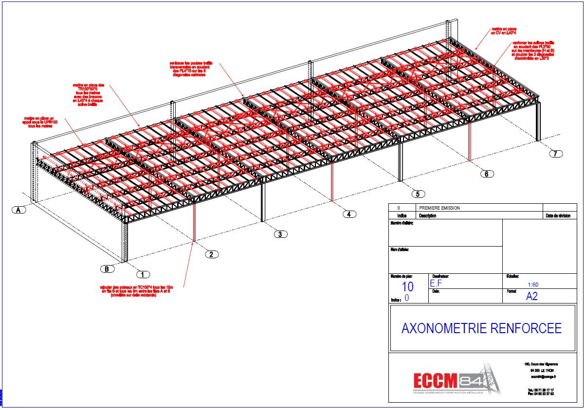 Eccm84 etudes en cours eccm84 etudes coordination for Structure metallique architecture